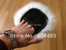 20pcs 4 Fingers Sheepskin Car Wash Mitt Car Care (White) CA-1212