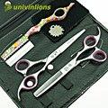 """Univinlions micro dientes 6 """"serrado tijeras de adelgazamiento chica cortes de pelo japonés tijeras de pelo profesional tijeras de peluquería"""