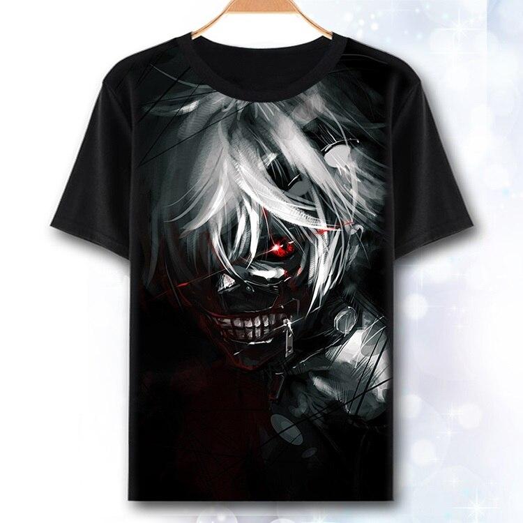 [XHTWCY] Men and women Men Summer Creative 3D Tokyo Ghoul T shirts Animation Sasuke Ninja Print T Shirts