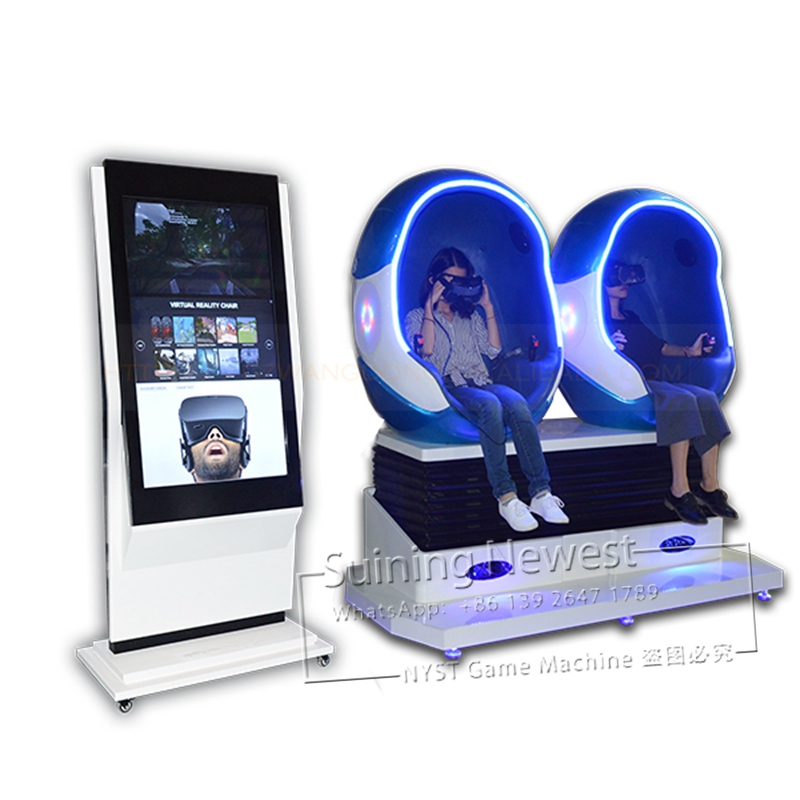 3ae5f4703ddc NYST Amusement Park Equipment 2 Person Seats Virtual Reality 9D VR Chair Movies  Simulator Egg Cinema Arcade Game Machine