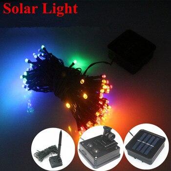 Solar Lamp string LEDChristmasLights 6V 8M 22M 12M Fairy String Lights Led Outdoor Lighting 3ModesWaterproof ForGardenLightStrip