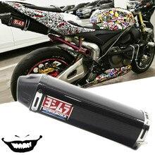 DB Assassino Para CBR600 F5 CBR1000 ZX-6R Yoshimura Silenciador do Escape De Moto Completa YO015 Real da Fibra do Carbono deslizamento com Móvel