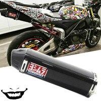Yoshimura db assassino para cbr600 f5 cbr1000 ZX 6R silenciador do escape da motocicleta completo real fibra de carbono deslizamento com móvel yo015|Silenciadores|Automóveis e motos -