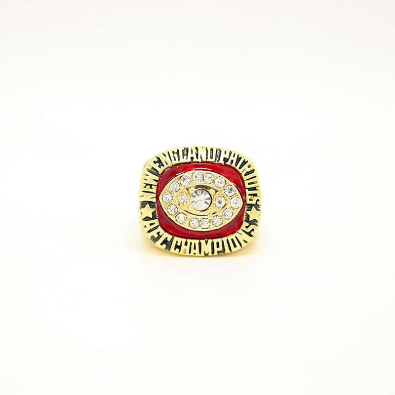 FGHGF Hot Sale 1985 New England Patriots Champion of the Year Ring High Quality Rings and Beautiful Wooden Gift Box Presents
