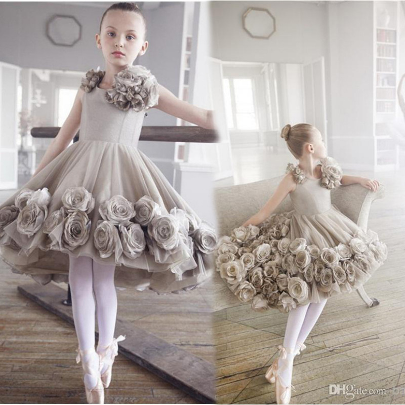 Здесь можно купить  New 2018 Party Style Baby Girl Princess Dress Rose Flower Shoulder Costume Girls Wedding Flower Dresses Evening Vestido GDR379  Детские товары