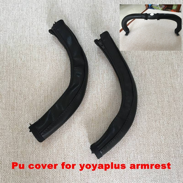 new Pram Stroller Accessories yoyaplus Baby Stroller Armrest Pu Protective Case Cover For Armrest Covers Handle Wheelchairs