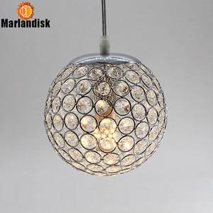 Image 4 - E27 Modern Nice Pendant Lights Gold/Silver Pendant Light,Round Ball Crystal D15CM Pendant Lamps For Living Room Bed Room(DN 65)