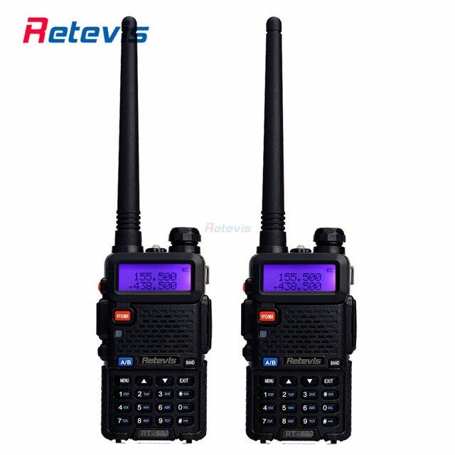 2 шт. Ручной Walkie Talkie Retevis RT-5R 5 Вт 128CH Dual Band УКВ UHF Радио VOX DTMF Двухстороннее Радио Портативный Радиолюбителей Comunicador