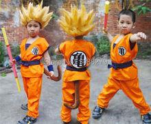 Japanese Anime Dragon Ball Goku Kids Cute Cosplay Costume Suit Halloween