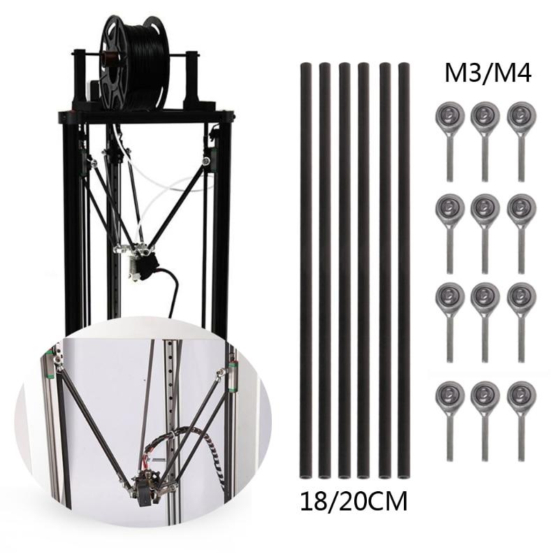 OD Ø 2mm x 400//420//450//500mm Pultruded Carbon Fiber Solid Rod Round Bar Pin