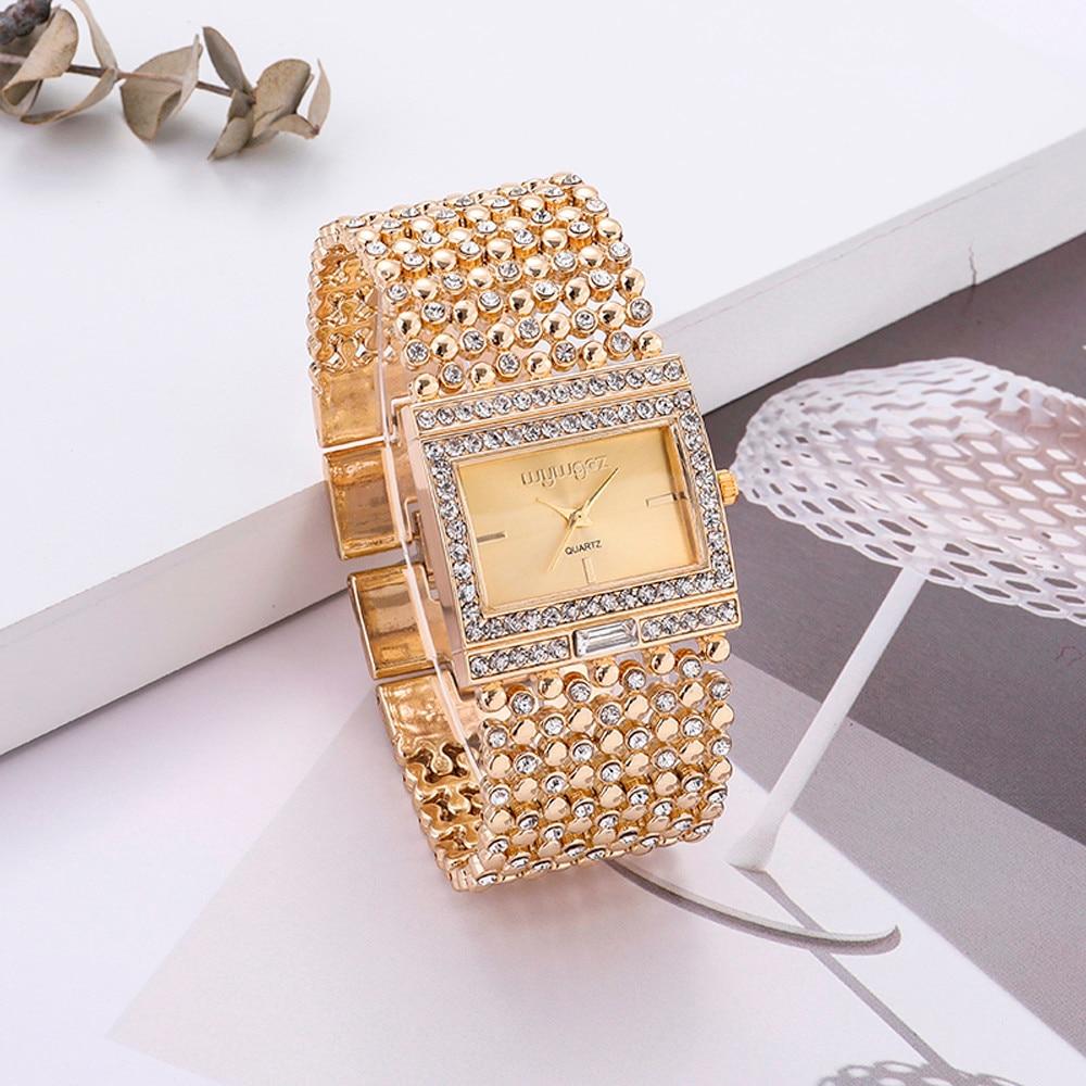 Women Round Full Rhinestone Bracelet Watches Fashion Luxury Quartz Movement Wrist Watch Relogio Feminino Saat Montre Femme Gift