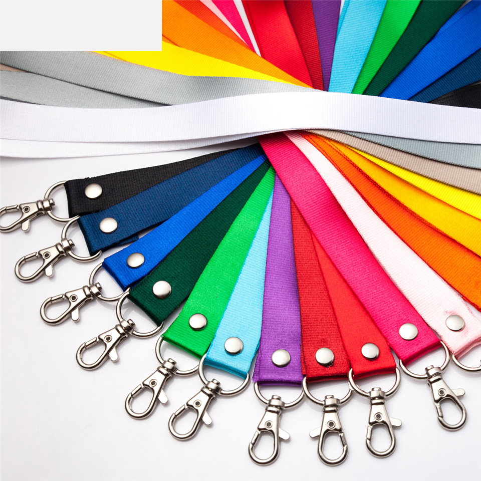 Badge Holder Lanyard 46CM Candy Color Lanyard For Name Tag ID Card Exhibition Card Holder Badge Holder Office And School Supplie