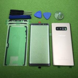 Image 3 - 삼성 Galaxy Note 8 N950 N950F 기존 전면 스크린 유리 렌즈 Note8 후면 배터리 커버 도어 후면 하우징 + 스티커 도구