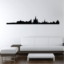 New York City Skyline Wall Stickers Moscow Russia Places Wall Art Decal Transfers Custom Made Color