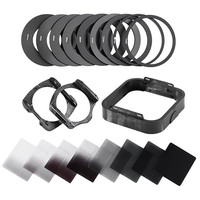 Zomei Camera Filtro Gradient Neutral Density Gradual ND Square Resin Filters Adapter Rings Holder Cokin P