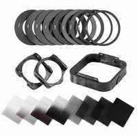 Câmera zomei filtro gradiente densidade neutra gradual nd quadrado resina filtros adaptador anéis titular cokin p série sistema para dslr