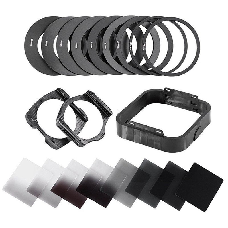 все цены на Zomei Camera Filtro Gradient Neutral Density Gradual ND Square Resin Filters Adapter Rings Holder Cokin P Series system for DSLR онлайн