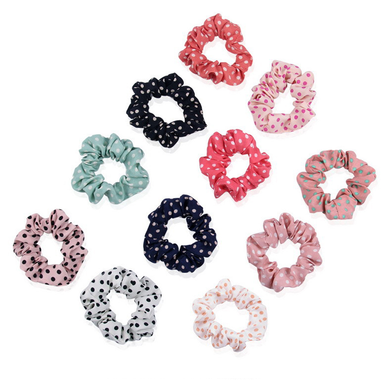 50Pcs/Lots Hair Rope Scrunchy Elastic Hair Band Ponytail Holder Girls Sweet   Headwear   Hair Accessories Styling Tools For Woman