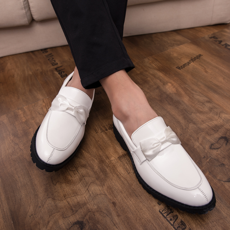 formal men leather shoes male trend Bow slip on footwear cool italian luxury brand wedding dress moccasins oxford shoes for men (26)