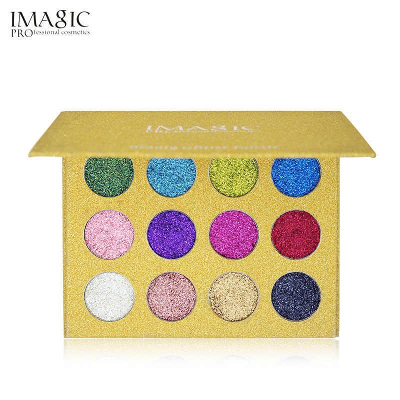 IMAGIC נצנצים לחוץ צבע צלליות יהלומי קשת צבעים עמיד למים קוסמטי יחיד צלליות מגנט צבעים