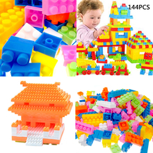 Gift Toy Blocks Puzzle Bricks Baby Children Early Learning Educational Plastic Building New цена