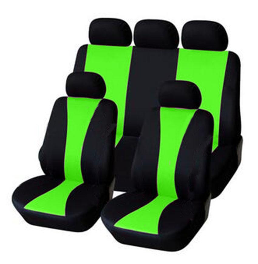 Conjunto completo ya referencias fundas para asientos rojo negro alta calidad confort nuevo