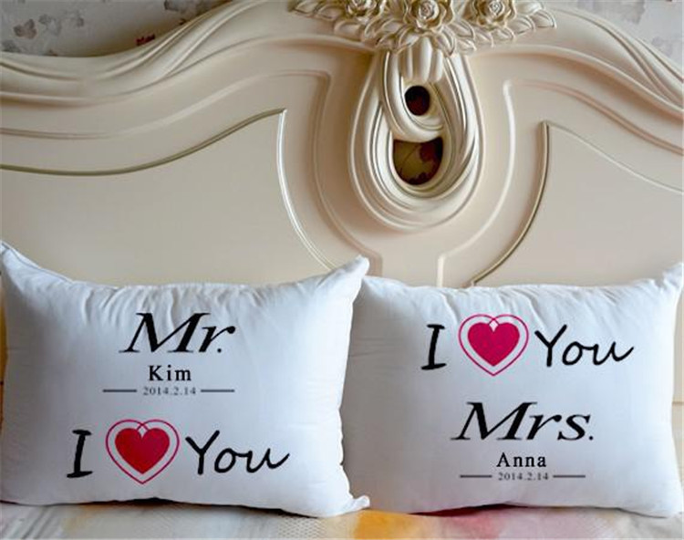 Personalized Pillow Cover Me Custom Pillow Cover Anniversary Wedding You Heart /& Initials Pillow Cover Custom Heart Pillow Cover
