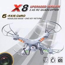 Vente chaude BAYANGTOYS X8 UFO 4 Canaux 6 Axes Gyro 2.4G RC Quadcopter avec 2.0MP Caméra HD Led LCD Affichage Mini Drone