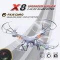 Venta caliente BAYANGTOYS X8 UFO 4 Canales 6 Axis Gyro 2.4G RC Quadcopter con 2.0MP Cámara de ALTA DEFINICIÓN de Pantalla LCD de la Luz LED Mini Drone