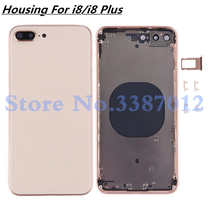 Back housing Middle Frame Chassis Full Housing Assembly Battery Cover replacement For iphone 8 / 8 Plus Housing With LogoBack housing Middle Frame Chassis Full Housing Assembly Battery Cover replacement For iphone 8 / 8 Plus Housing With Logo