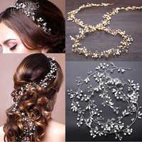 ZUOYITING perla cristal boda cabello vid cristal accesorios nupciales diadema de diamantes noticias románticas mujeres joyería para el cabello belleza