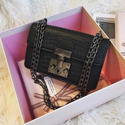 Модные металлические пряжки дизайн женский небольшой квадратный пакет Роскошные клетчатые цепи женские сумки через плечо высокое качеств...