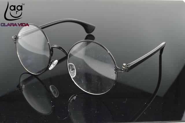 9a3833b6fb placeholder Retro Vintage Alloy Large Round Glasses Frames Custom Made  prescription lens myopia reading glasses Photochromic lenses