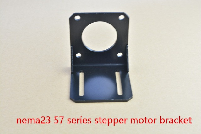 Nema23 mounting L bracket 57 stepper motor fitted black alloy steel mounting bracket diy cnc parts L type 57 brackst 1pcs