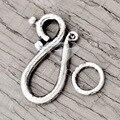 60Pcs Antique Silver Tibetan Silver Tone Hook & Eye Clasp Zinc Alloy Jewellry Making Findings Fit Bracelet Necklace TS1869
