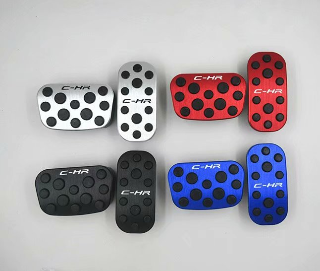 Car Interior Accessories Black Dot Accelerator Gas Pedal Cover Brake Pedal For Toyota CHR C HR C HR AT 2016 2018 Car Styling