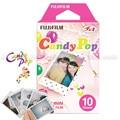Genuino fuji fujifilm instax mini película instantánea de caramelo pop papel fotográfico 10 unids para 8 7 s 7 50 s 50i 90 25 dw Compartir SP-1 Mini cámaras