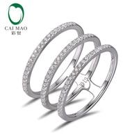 Free Shipping 0 40ct Round Cut Diamonds 14K White Gold Diamond Wedding Band Eternity For Anniversary