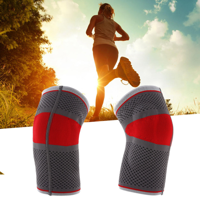 1pcs Mumian S02 Three-Dimensional Sport Running Basketball Knitted Elbow Pad Silicone Protective Elbow Pad Red & Black New Hot