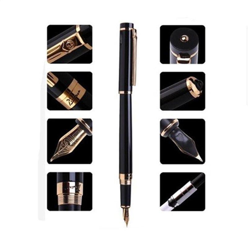 1pc/lot Picasso 908 Fountain Pen Pimio Black Pens Gold Clip Iraurita Fountain Pen Office Supplies 0.5mm Caneta 13.9*1.3cm italic nib art fountain pen arabic calligraphy black pen line width 1 1mm to 3 0mm