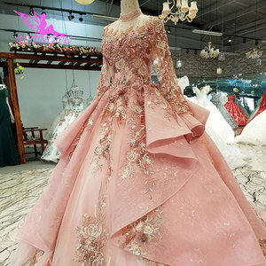 Image 3 - AIJINGYU Wedding Dress Black Gowns Plus Size Bride Indonesia Custom In Dubai Gown Two Pieces Cheap Bridal Dresses