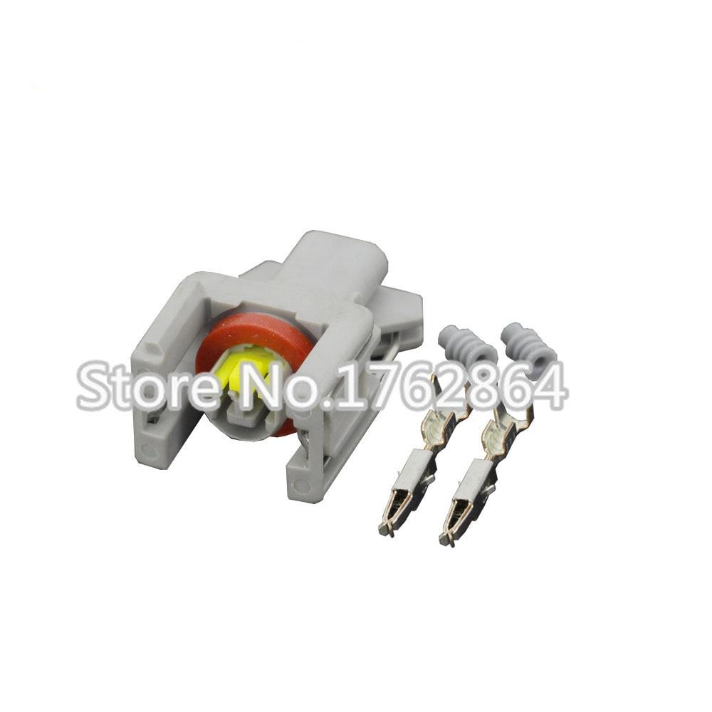 5 Sets Delphi 2Pin Auto fuel injector Waterproof connector spray nozzle/oil atomizer plug 240PC024S8014 car plug connectors