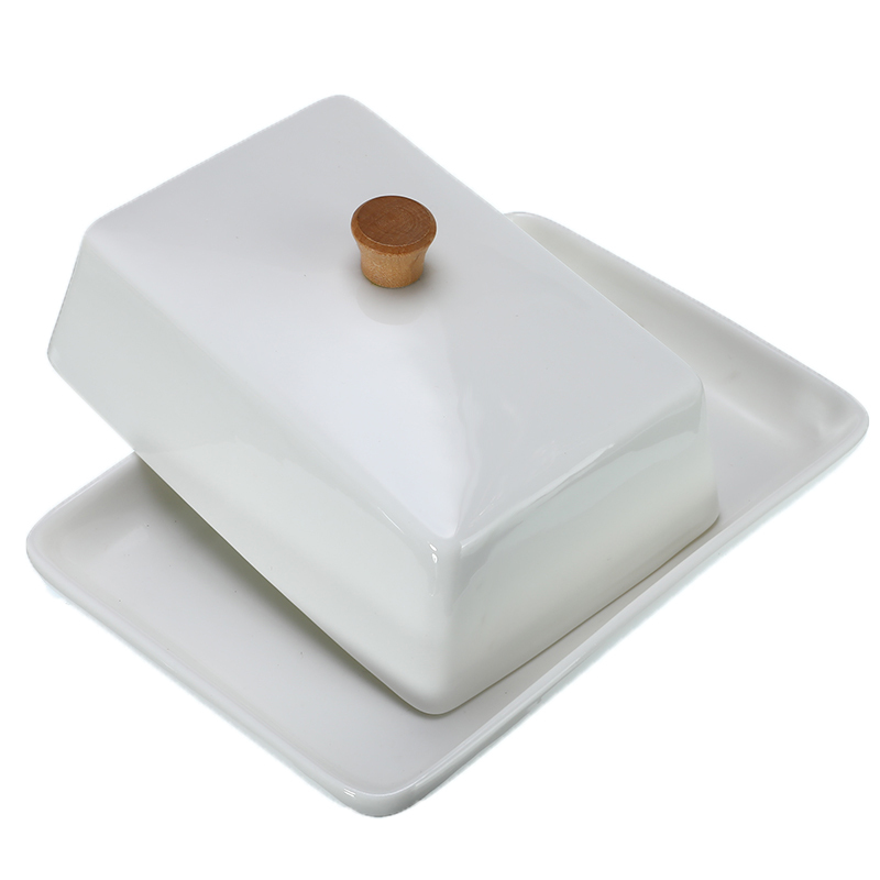 6/8 Polegada branco sushi prato frutas queijo placas de cerâmica manteiga prato compota cozinha requintado caixa armazenamento capa titular recipiente