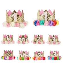 Glucklich Geburtstag Baby Party Hute Decor Kappe 1 2 Ein Hut Prinzessin Crown 1st