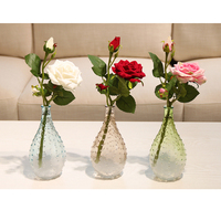 Simple Modern Creative Glass Vase Drops of water shape home decorative flower vases wedding home decor light bulb Container