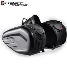 GHOST RACING 2pcs Universal Motorcycle Saddlebag Tail Bag Luggage Knight Helmet Motorbike Parts