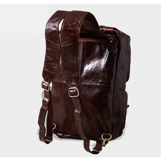 Senkey style 2017 Genuine Leathe Business bag Men Travel Backpack Casual Fashion Document Real Leather Man Office Bag Designer  3