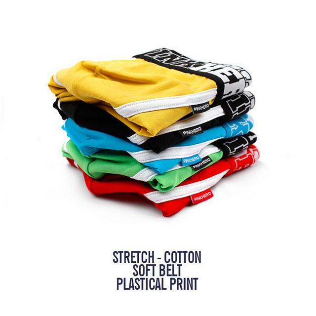 5Pcs Pack/Lot Men's Boxer Pink Hero Cotton Underwear Pure Color Fashion Boxershort Sexy Shorts Man Plus Size Pouch Wholesale 14