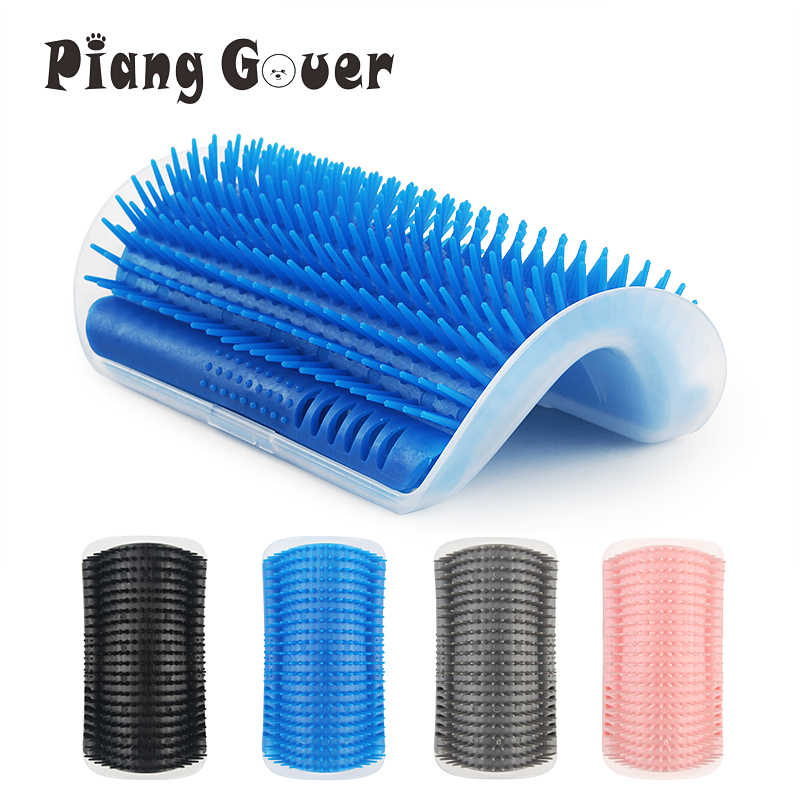 New Long Style Pet Corner Brush Plastic Scratch Bristles Arch Massager Comb Self Grooming Cat Scratcher