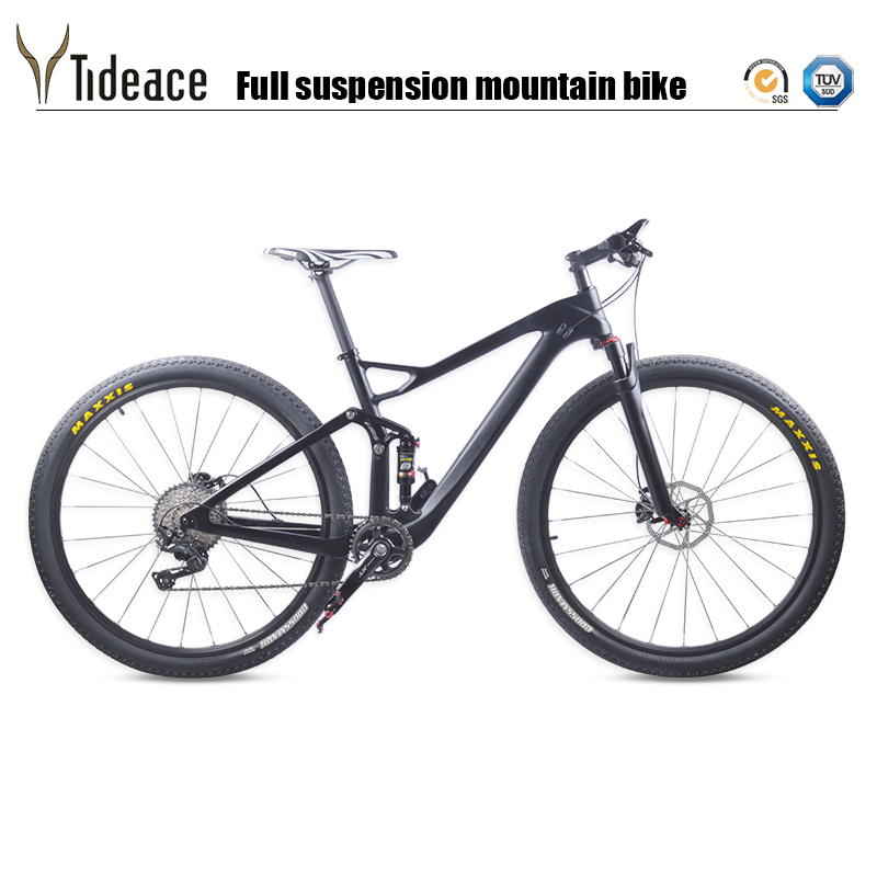 Tideace Carbon MTB suspension Mountain Bike 29er 10s or 11s Speed 29″ Complete suspension bicycle XT M8000 29er Mountain Bike